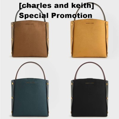 [charles and keith] テクスチャードバケツバッグ / Textured Bucket Bag/CK2-10270593