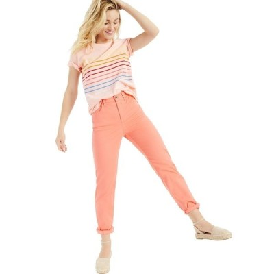 スタイルアンドコー Tシャツ トップス レディース Petite Printed Cotton T-Shirt, Created for Macy's Stripe Champagne Pink