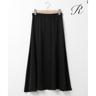【LIMITED SHOP R(アール)】SANDO WASH SILK フレアスカート