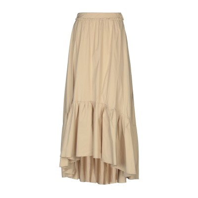 フェデリカ・トシ FEDERICA TOSI ロングスカート ベージュ 38 70% コットン 27% ナイロン 3% ポリウレタン ロングスカート