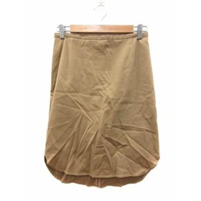 【中古】スピック&スパン ノーブル Spick&Span Noble スカート タイト ひざ丈 36 ベージュ /MN レディース