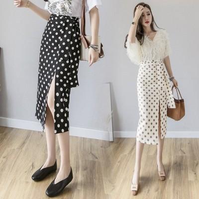 春と夏の新しい韓国のファッション野生のバッグヒップスカートワードスカート波ポイントスカート