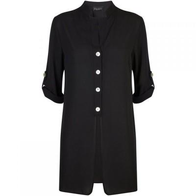 ジュームズ レイクランド James Lakeland レディース ブラウス・シャツ トップス Button Roll Sleeve Shirt Black