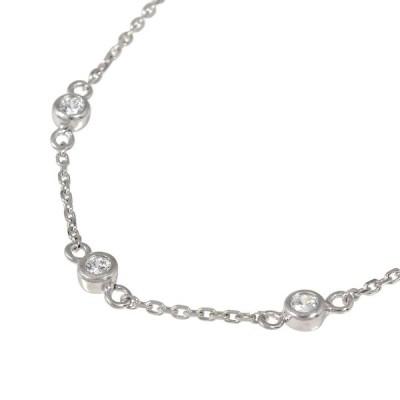 ブレスレット ダイヤモンド プラチナ ブレスレット トリロジー 誕生石 覆輪 フクリン スリーストーン 3石 シンプル レディース 母の日 花以外