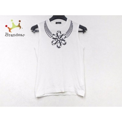トリココムデギャルソン tricot COMMEdesGARCONS ノースリーブカットソー レディース - 白×黒 新着 20200728