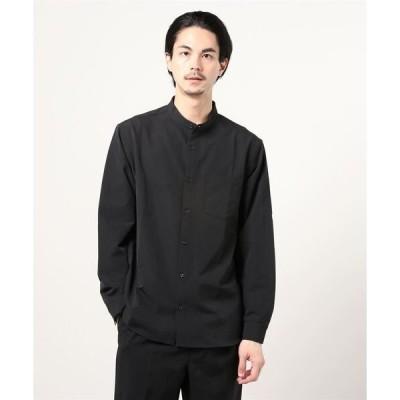 シャツ ブラウス :快適男バンドカラーシャツ/長袖