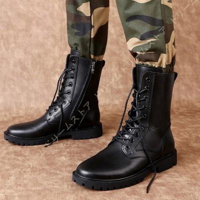マーティンブーツ メンズ ブーツ 本革 ブーツ 男性用 紳士靴 裏起毛 防寒 アウトドア 通勤用 防滑 防水 黒 ビジネスシューズ サイドジッパー 履きやすい