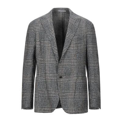 イレブンティ ELEVENTY テーラードジャケット スチールグレー 52 シルク 45% / 毛(アルパカ) 24% / ウール 22% / ナイ