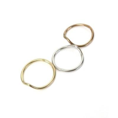 指輪 【2size展開】つや消しアーモンドシェイプ2サイズリング