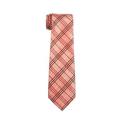 (リトリーズ) RETREEZ タータンチェック風 織物 マイクロファイバー 男児用ネクタイ - 8-10歳 り - オレンジ