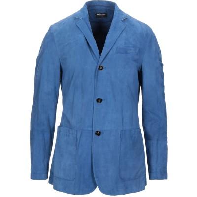 KITON テーラードジャケット ブルー 50 羊革(ラムスキン) 100% テーラードジャケット