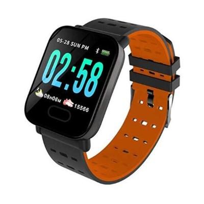 Smart Watch, Heart Rate Monitor Sport Fitness Tracker Blood Pressure Call Reminder Men's Watch, Black,Brown 並行輸入品