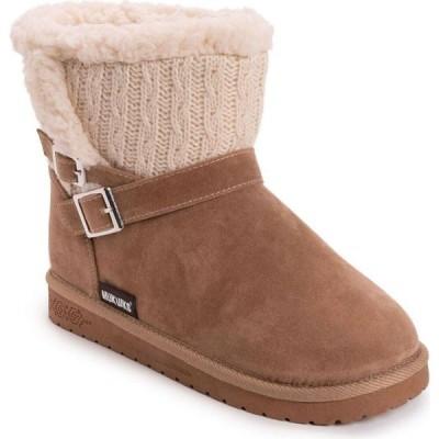 ムクルクス Muk Luks レディース ブーツ ブーティー シューズ・靴 Alyx Cold Weather Cozy Booties Tan