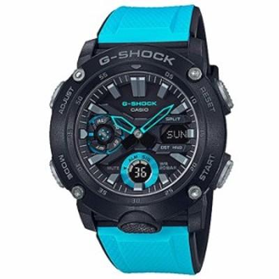腕時計  メンズ カシオ G-Shock アナログデジタル カーボン コア ガード ブルー 樹脂バンド 腕時計  GA2000-1A2