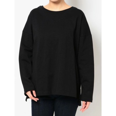 COTORICA. DOUBLE COLLAR LONG SLEEVE T(ブラック)