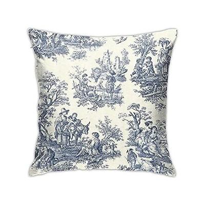 特別価格YIEASY Throw Pillow Covers Toile De Jouy Pillowcase Soft Throw Cushion Cove好評販売中