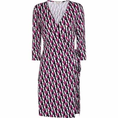 ダイアン フォン ファステンバーグ Diane von Furstenberg レディース ワンピース New Julian printed silk-jersey minidress Stripe Ivo