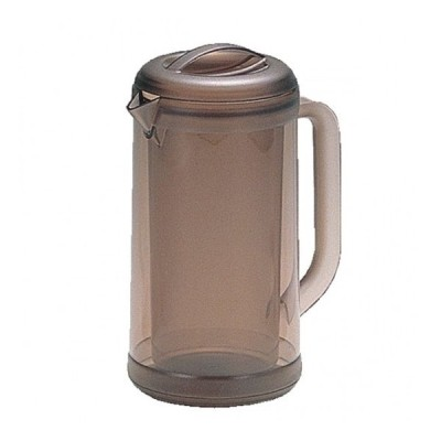 ポリカ丸型ノンウェットピッチャー 1.7L スモークブラウン 樹脂製品 喫茶・お茶用品・ポット 業務用 約14cm