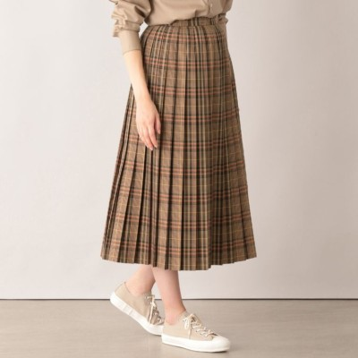タータンチェックプリーツスカート