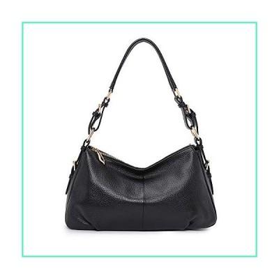 Kattee Soft Leather Hobo handbags for Women, Genuine Top Handle Vintage Shoulder purses(Black)並行輸入品