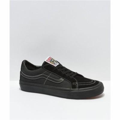 ヴァンズ VANS メンズ スケートボード シューズ・靴 sk8-low decon sf black wash skate shoes Black