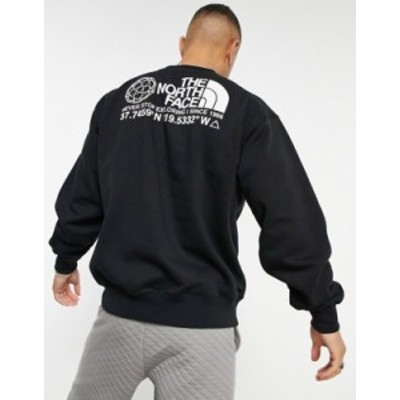 ノースフェイス メンズ シャツ トップス The North Face Coordinates sweatshirt in black TNF black