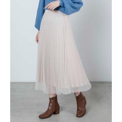 スカート WEGO/ドットチュールロングスカート