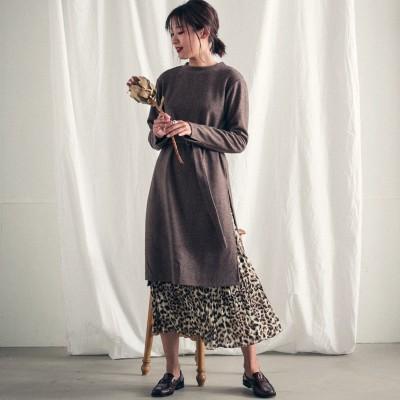 socolla(ソコラ)/【socolla】カットワンピース×柄ギャザースカートセット
