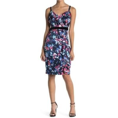 ゲス レディース ワンピース トップス Floral Print Slip Dress NAVY/MULTI