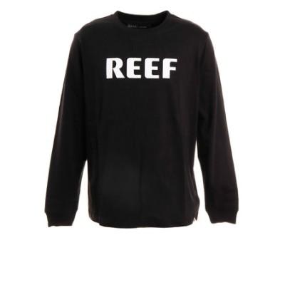 リーフ(REEF)Tシャツ メンズ 長袖 BLOCK RF19FA-1001LS-BLA