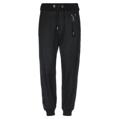 LES HOMMES パンツ ブラック 52 バージンウール 100% / シルク / ポリエステル パンツ