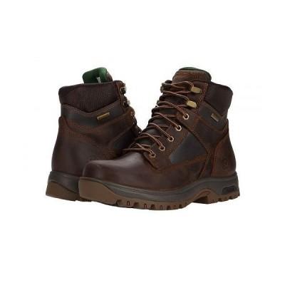 Dunham ダナム メンズ 男性用 シューズ 靴 ブーツ ワークブーツ 8000 Works 6 in Plain Toe Waterproof Boot - Brown Leather