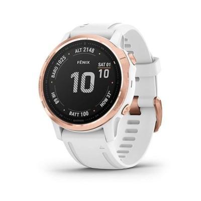 ガーミン 腕時計 メンズ アクセサリー Garmin fenix 6S Pro Watch Rose Gold/white Band