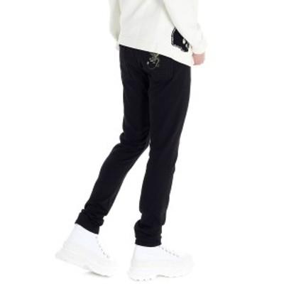 ALEXANDER MCQUEEN/アレキサンダー マックイーン Black   Embroidered dragon jeans メンズ 春夏2020 610145QOY011000 ju