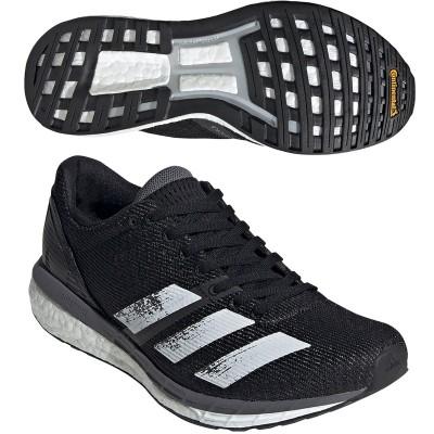 アディダス Adidas adizero Boston 8 シューズ 24cm コアブラック/フットウェアホワイト/グレーファイブ レディス