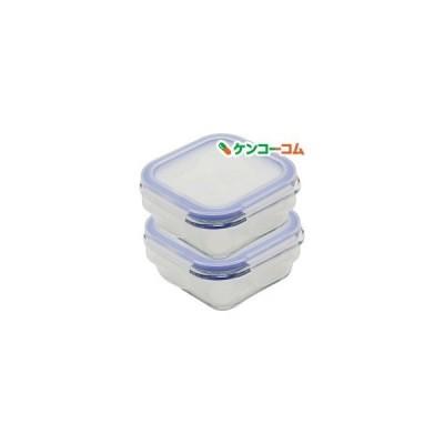 保存容器 耐熱ガラス パチっとロック スクエア S300 ZB-4913 ( 2コ入 )