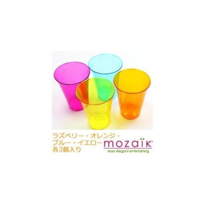 コップMozaik Color Tumbler プラスチック製 カラータンブラー 4色MIX12個セット MZCTMX