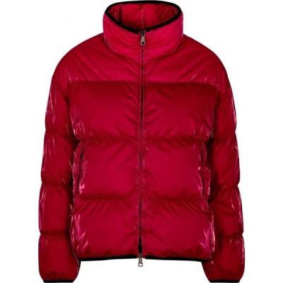 モンクレール Moncler レディース コート アウター grenit red quilted satin-shell coat Red