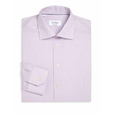 イートン Men Clothing Regular-Fit Micro Checked Dress Shirt