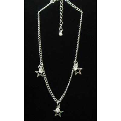 アンクレット レディースアクセサリー アクセサリー ファッション ラインストーン付き 抜き星 星パーツ ラインストーン Ladys Necklace