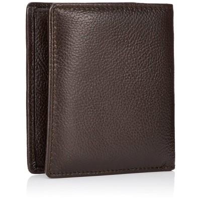 アーノルドパーマー 折財布札入れWベラ付き 多機能III(カードいっぱい収納) ブラウン