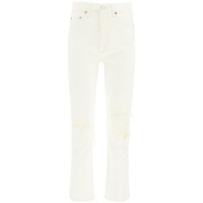 AGOLDE/エーゴールドイー White Agolde riley high rise straight crop jeans レディース 春夏2021 A056C 1183 ik