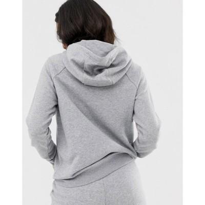 ナイキ レディース パーカー・スウェットシャツ アウター Nike Essentials hoodie in gray Gray heather