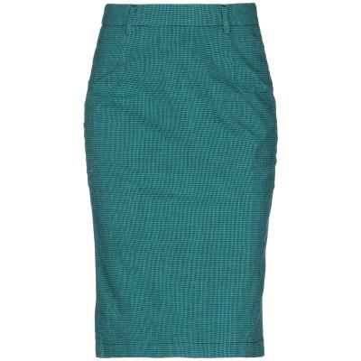 デパートメント 5 DEPARTMENT 5 ひざ丈スカート グリーン XS コットン 87% / 麻 9% / ポリウレタン 4% ひざ丈スカート