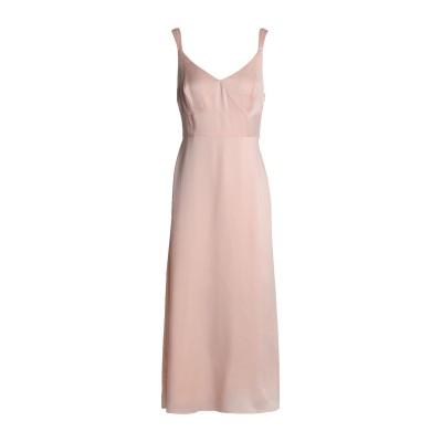 IRIS & INK 7分丈ワンピース・ドレス ピンク 8 シルク 100% 7分丈ワンピース・ドレス