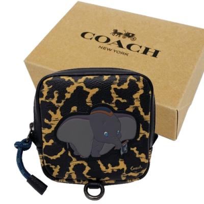 COACH  X DISNEY限量聯名小飛象AirPods mini腰包禮盒(小飛象/豹紋)
