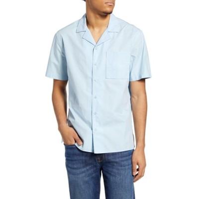 ビーピー シャツ トップス メンズ Short Sleeve Button-Up Camp Shirt Blue Cool