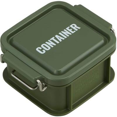 オーエスケー 弁当箱 カーキ 容量:約300ml ランチチャイム コンテナ ランチボックス SS CNT-300