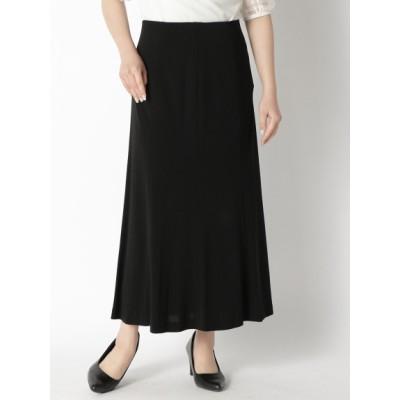 【大きいサイズ】【LL-7L】【日本製】フォーマルブラックスムースロングスカート 大きいサイズ スカート レディース