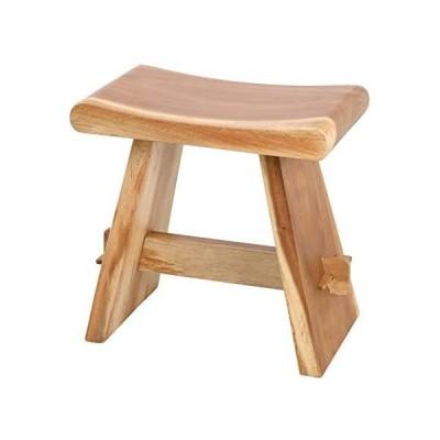 クロシオ 無垢材 ベンチ スツール 幅48cm ナチュラル 天然木 チェア 木製 (ナチュラル 幅48cm)